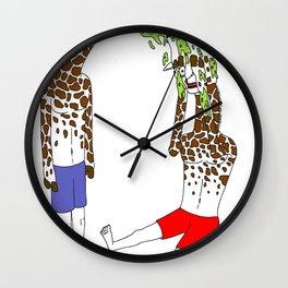 giraffe boyz Wall Clock