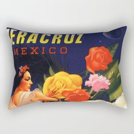 Veracruz Travel Poster Rectangular Pillow