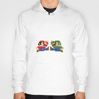 mario Hoodies featuring Mario by Megan Twisted