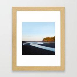 Black Sand Bethells Framed Art Print
