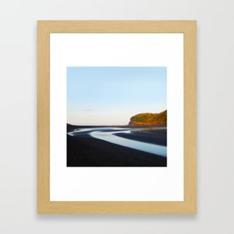 Black Sand Bethells Framed Art Print