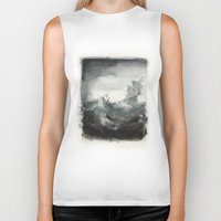 ship Biker Tanks featuring Ship by Inken Stabell