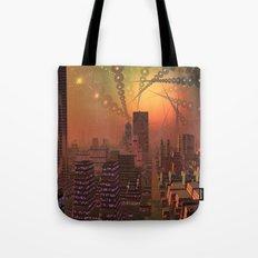 Spherople Alien City Tote Bag