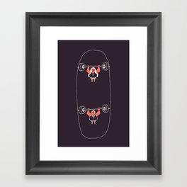 Heavyweight Skateboarding Framed Art Print