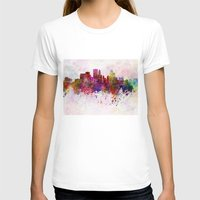 minneapolis T-shirts featuring Minneapolis skyline in watercolor background by Paulrommer