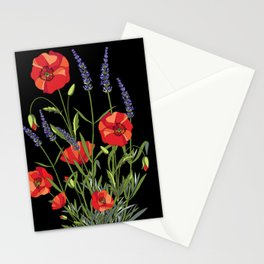 Poppies & Lavendar Stationery Cards
