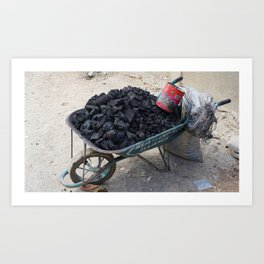 Haiti Coal Art Print