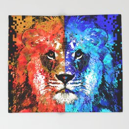 Lion Art - Majesty - Sharon Cummings Throw Blanket