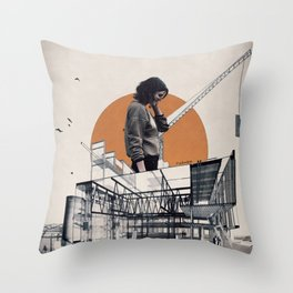 Under construction ... Throw Pillow