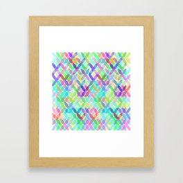 Crossing Colours Framed Art Print