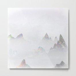 Emerald Mountains Metal Print