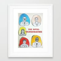 royal tenenbaums Framed Art Prints featuring The Royal Tenenbaums  by Neethi Goldhawk