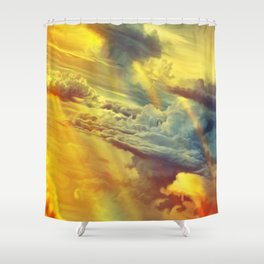 Flying in height Shower Curtain