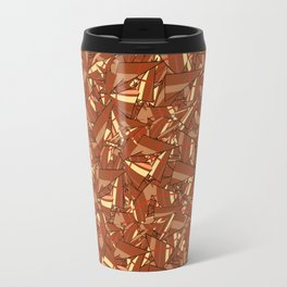 Chocolate Brown Abstract Travel Mug