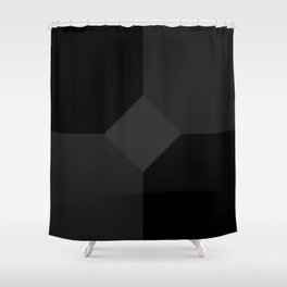 Simply Black on Black Shower Curtain