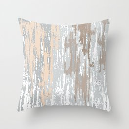 Grey brown Colors Gradient pattern.  light-grey, modern, decor, Society6 Throw Pillow