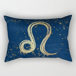 Leo Zodiac Sign Rectangular Pillow