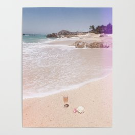 Rose and Rose on the beach Poster