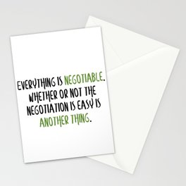 Carrie Fisher Negotiable Quote Stationery Cards