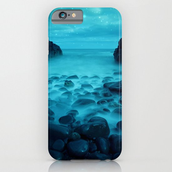Blue Rocks Ocean and Stars iPhone & iPod Case
