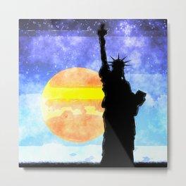 Majestic Lady Liberty Metal Print