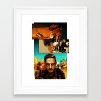 mad max Framed Art Prints featuring Mad Max  by nellafantasia