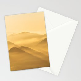 Morning fog hills layers sunrise Stationery Cards