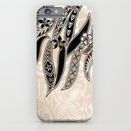 Hawaiian Tribal Leaves iPhone Case