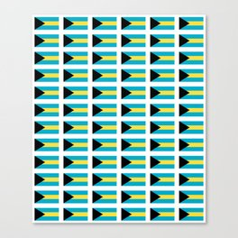flag of Bahamas – Nassau,Bahamian,Bahamianese,Junkanoo,Regattas Canvas Print