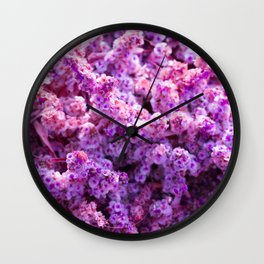 Rest Stop Flowers ~ Salt Flats, Utah Wall Clock
