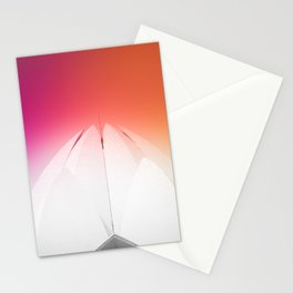 Lotus Flower Symmetry Perfection under the Rainbow at Lotus Temple in India Stationery Cards