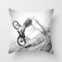 bikes Throw Pillows featuring bikes  by KayleeRae