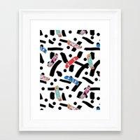 skate Framed Art Prints featuring Skate by Lara Gurney