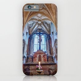 Sedlec Ossuary Altar Photo Art, Skull Bone Church iPhone Case
