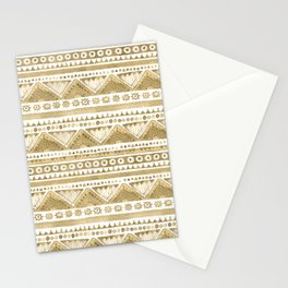 Watercolor Beige Tribal  Stationery Cards
