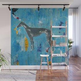 Greyhound Dog Abstract Painting Wall Mural