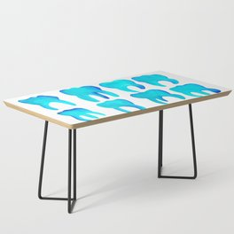 Turquoise Molars Coffee Table
