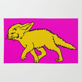 The Sly Fennec Fox Rug