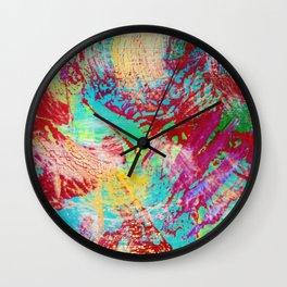 REEF STORM - Fun Bright BOLD Playful Rainbow Colors Underwater Ocean Reef Theme Coral Aquatic Life Wall Clock