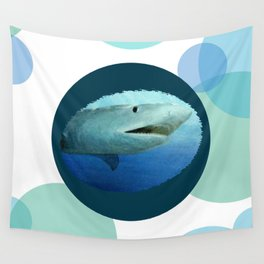 Shark Circles Wall Tapestry