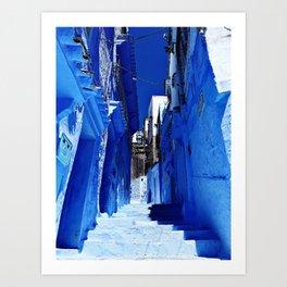 Chaouen stairs Art Print