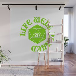d20 Life Well Played Crit Wall Mural