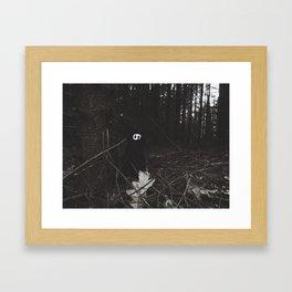 Woe in the dark forest~ Framed Art Print