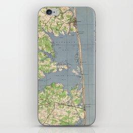 Vintage Rehoboth & Bethany Beach DE Map (1944) iPhone Skin