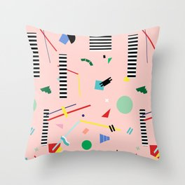 Memphis Geometry Lesson Throw Pillow