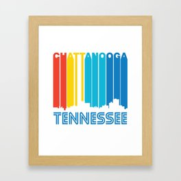 Retro 1970's Style Chattanooga Tennessee Skyline Framed Art Print