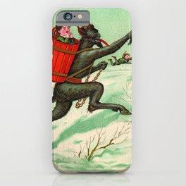 The Krampus stealing a child iPhone Case