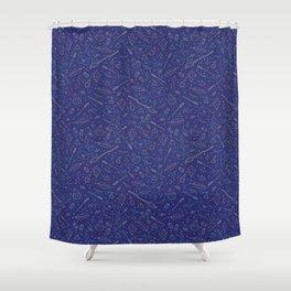 Yer a Wizard - Blue + Bronze Shower Curtain