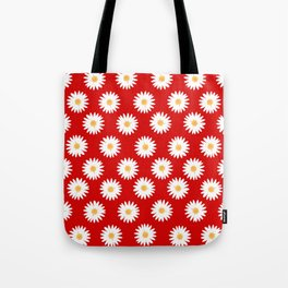 Daisy red pattern Tote Bag
