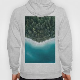 Green and Blue Symmetry - Landscape Photography Hoody